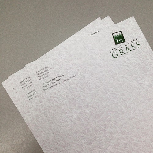 First Class Grass - Stationery