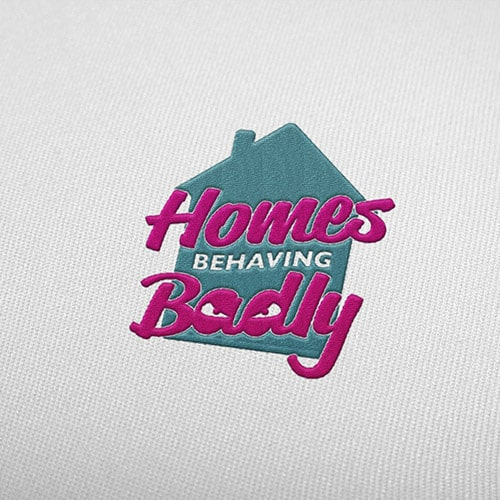 Homes Behaving Badly - Logo brand identity project